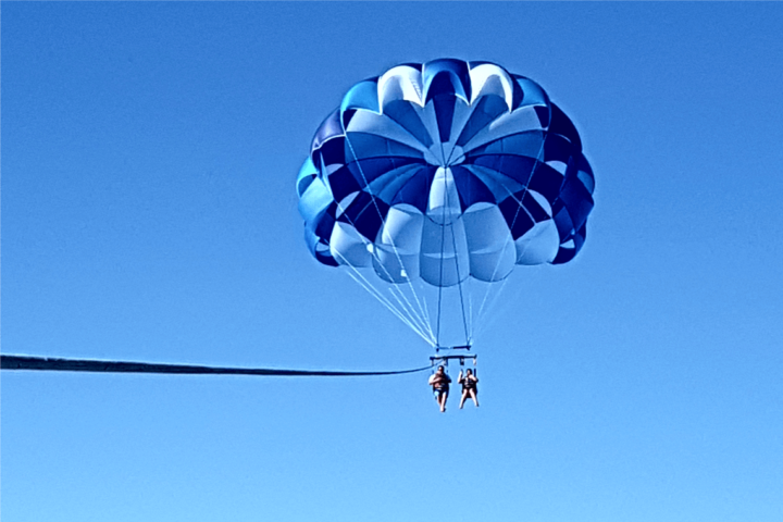 Image of Parasailing fun.